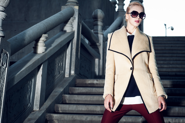乌克兰美女模特julia演绎中国设计师的欧美时装大片