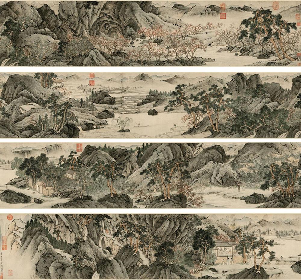【图】【国画长卷】山水~人物~白描(长卷)画欣赏图片
