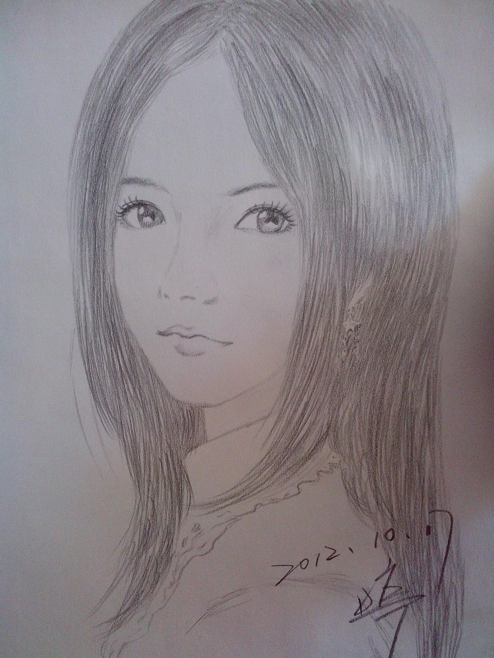 素描 涂鸦 美女