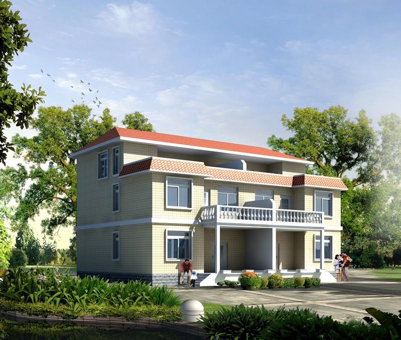 农村四间两层楼房 农村两间两层楼房 两间两层楼房设计图