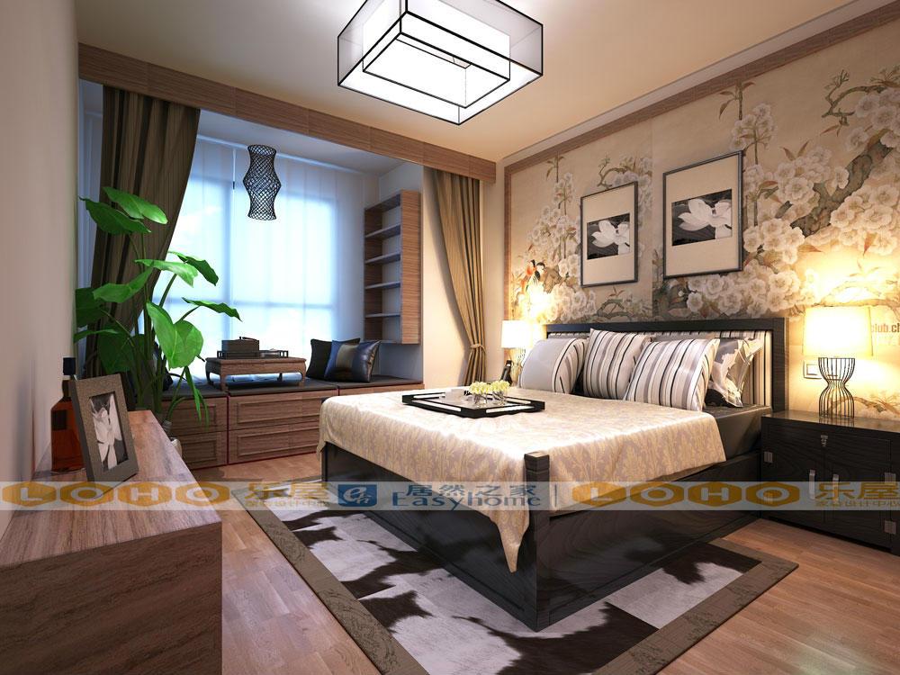 华业东方玫瑰小区新中式风格两居设计方案:提炼 ...