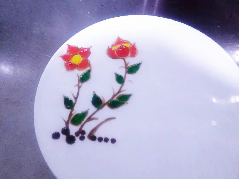 简单盘饰果酱画图片