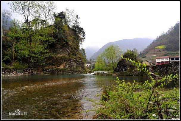 镇巴县楮河流域风光