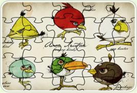 愤怒的小鸟表情拼图图片