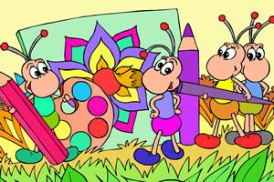 《绘画蚂蚁上色》是一款儿童类网页游戏,游戏大小为0.61m.图片