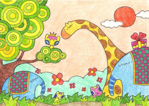 儿童蜡笔画 视频教程 儿童蜡笔画教学视频 儿童国画教程视频