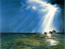 《在水一方——谢春林海景山水画》作品摘录