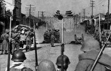 长谷川部队在南京中华门外准备总攻击
