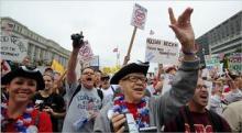 2009年9月,茶叶党到华盛顿游行