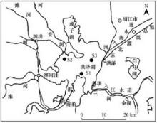 洪泽湖水系图