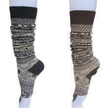 双针提花长筒袜