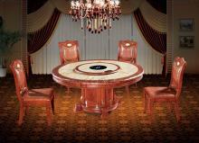 石材木质类电动餐桌图片
