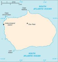 布韦岛地图