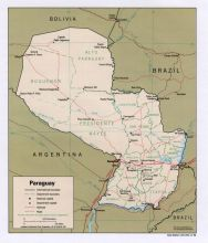 巴拉圭地图