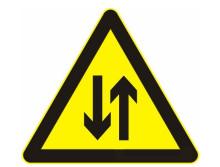 道路交通标志牌 黑色