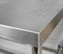 带孔不锈钢桌面