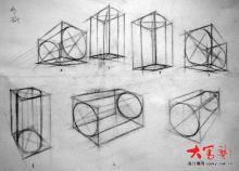 素描基本几何体透视理论图图片