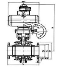 调节型,高温型 q647f固定球球阀产品概述 编辑 q647气动固定球阀在图片