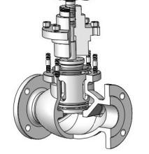 电动笼式单座调节阀图片