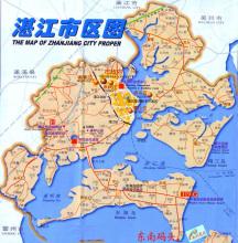 湛江市区地图 点击查看大图 高清图片