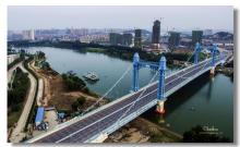 江汉六桥是武汉城区的第六座汉江大桥,连接硚口古田二路和汉阳琴断口图片