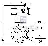 dyh971f46电动衬氟调节蝶阀图片
