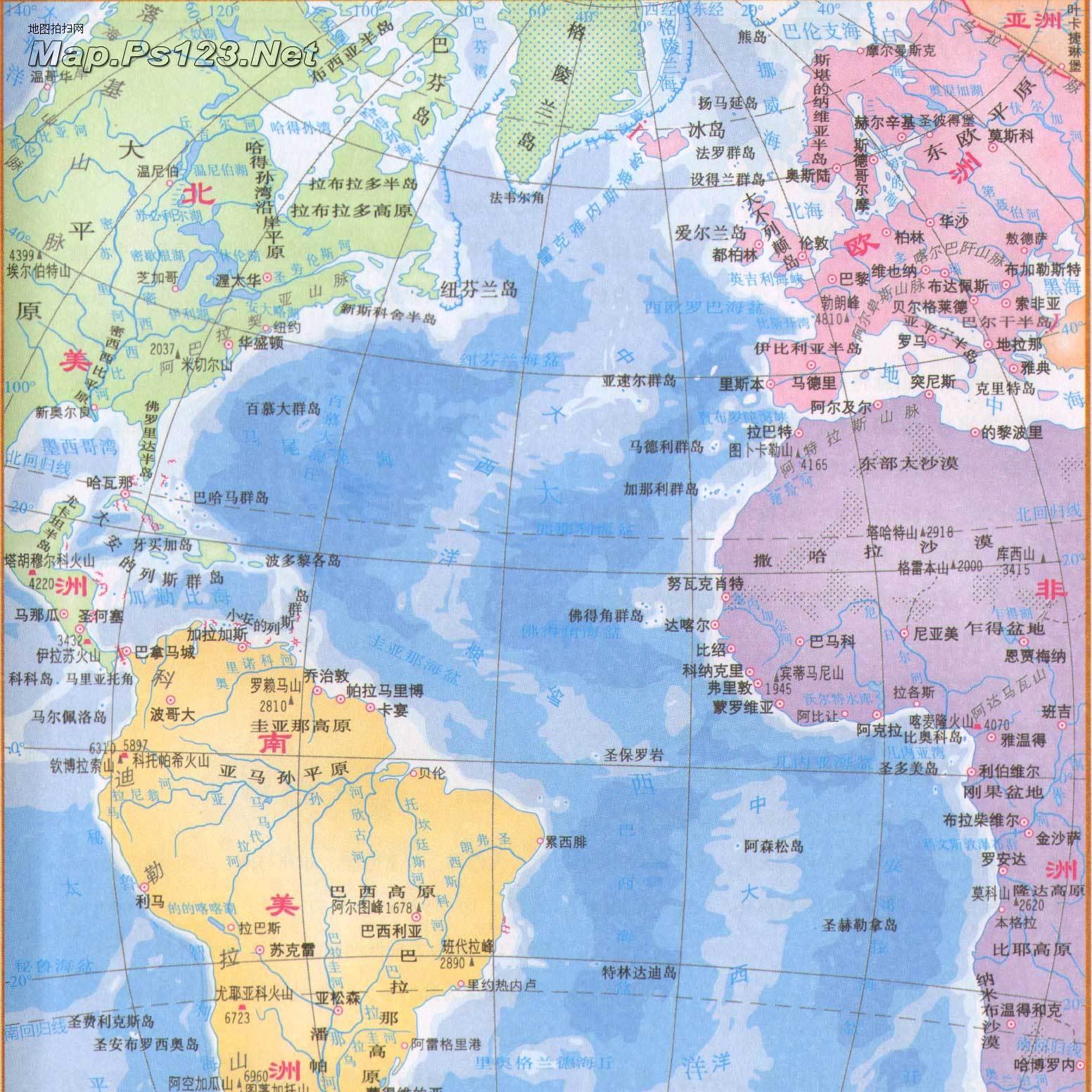 大西洋地图
