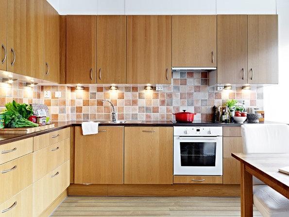 实木厨房橱柜效果图