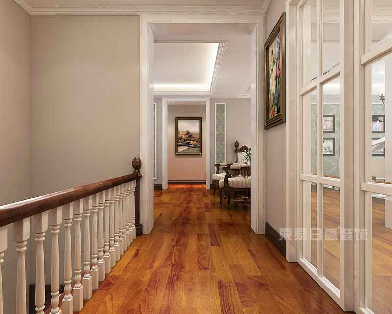 美式风格楼梯间