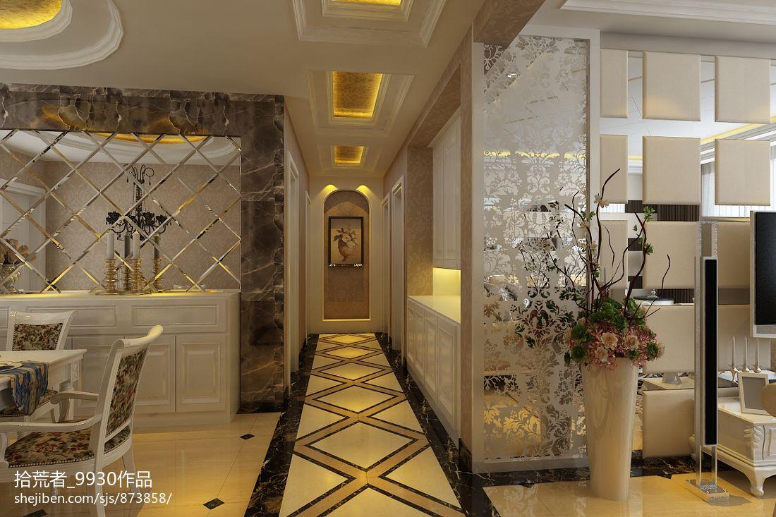 欧式客厅过道集成吊顶装修效果图图片