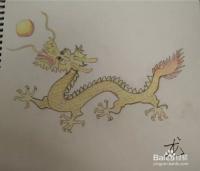 龙是中国十二生肖之一,以前没有画过龙,觉得画龙会不会很难.图片
