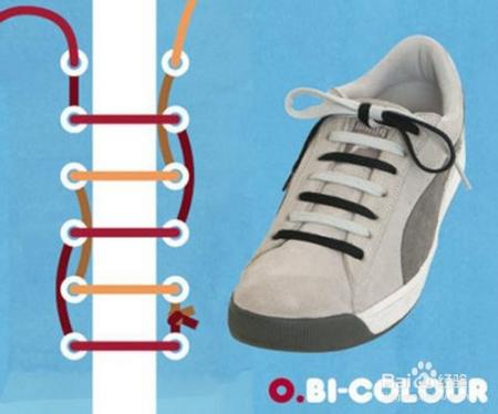 板鞋系鞋带方法图解图片