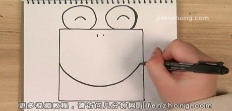 正方形简笔画之青蛙图片