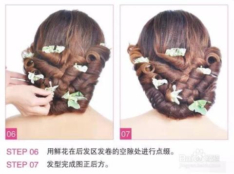 唯美的新娘鲜花造型教程,简单又不失大气,是很容易上手的一款发型,做图片