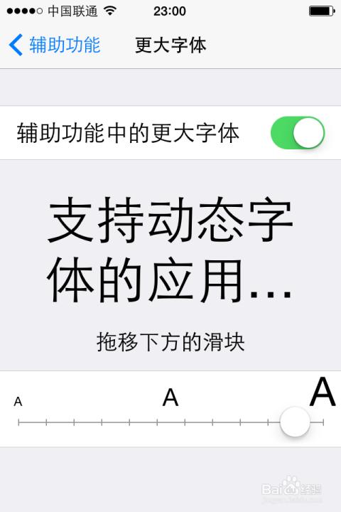 怎么能把苹果5手机的字体变大