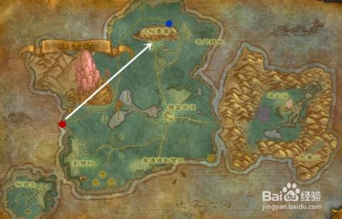 到达秘蓝岛.红色位置为我们下船的地点.