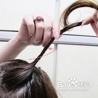 图释韩式猫耳朵发型编法图片