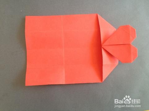 如何折带爱心的信纸_手工艺图片
