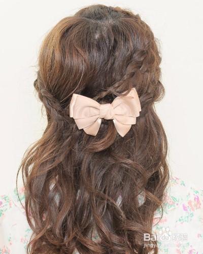 简单韩国明星伴娘发型设计图片图片
