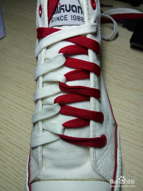 花式鞋带之麻花结图片