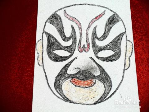制作京剧脸谱面具图片