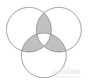 用word绘图工具绘制图形:[11]三圆形组合图片