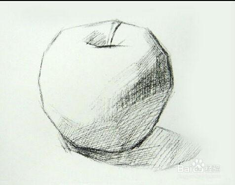 素描如何才可以画好一个苹果图片