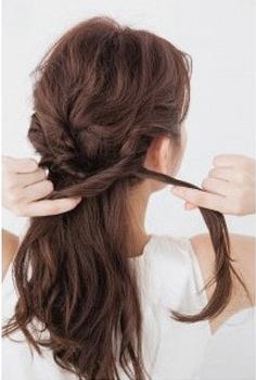 蝎子辫马尾扎法图片
