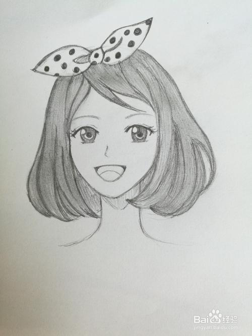 动漫女生怎么画好看图片