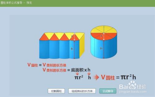 育PPT来演示圆柱体积公式的推导过程图片