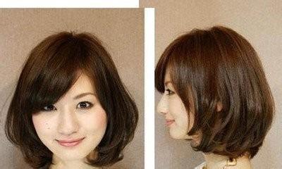适合的发色是冷棕色系列且头发比较蓬松,肤色黄色,头发脸,冷棕色国字我留着短英语头发图片