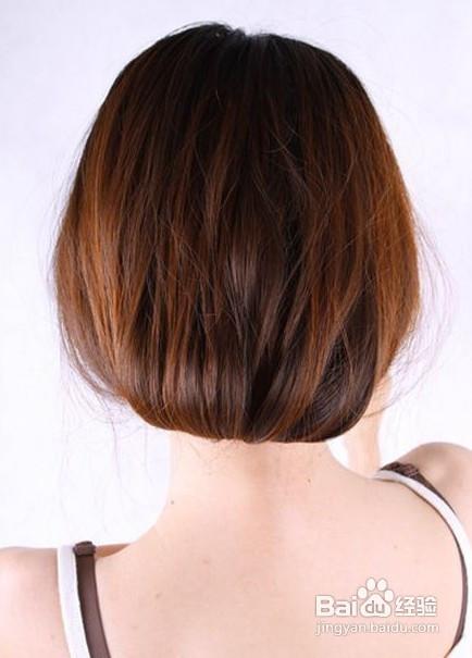 怎样简单的把长发扎成短发?图片