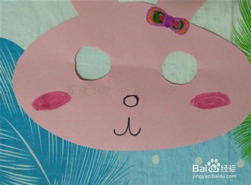 中秋折纸 自制小兔子面具图片