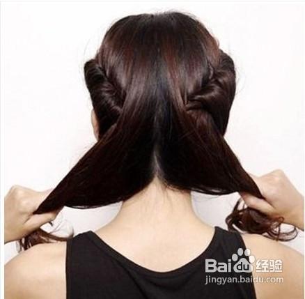 韩式蓬松盘发发型扎法图片
